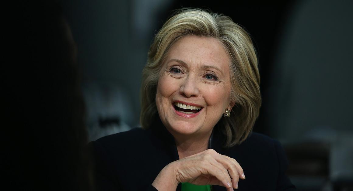 Hillary Clinton Begins Presidential Campaign In Iowa