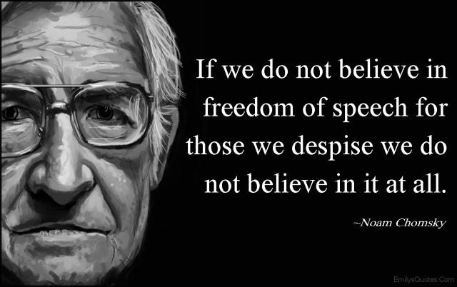 ChomskyFreedomofSpeech