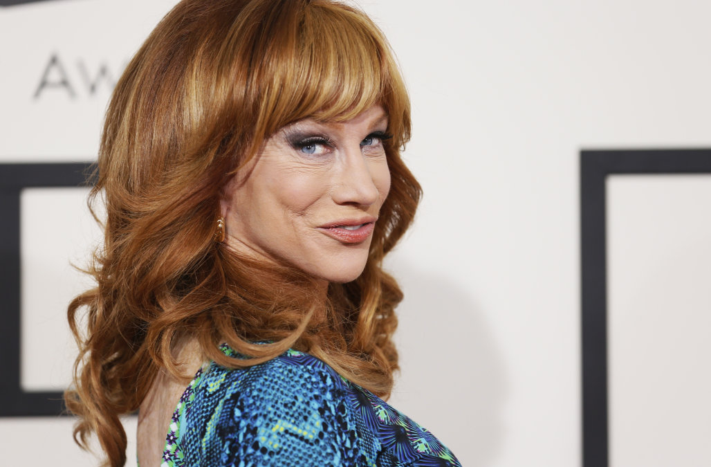 Kathy Griffin arrives at the 56th annual Grammy Awards in Los Angeles
